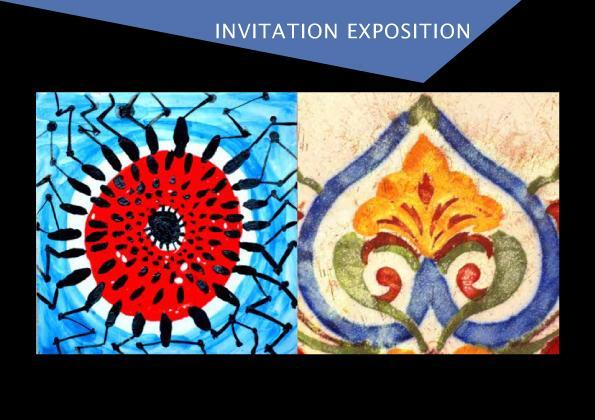 Invitation exposition ceramique