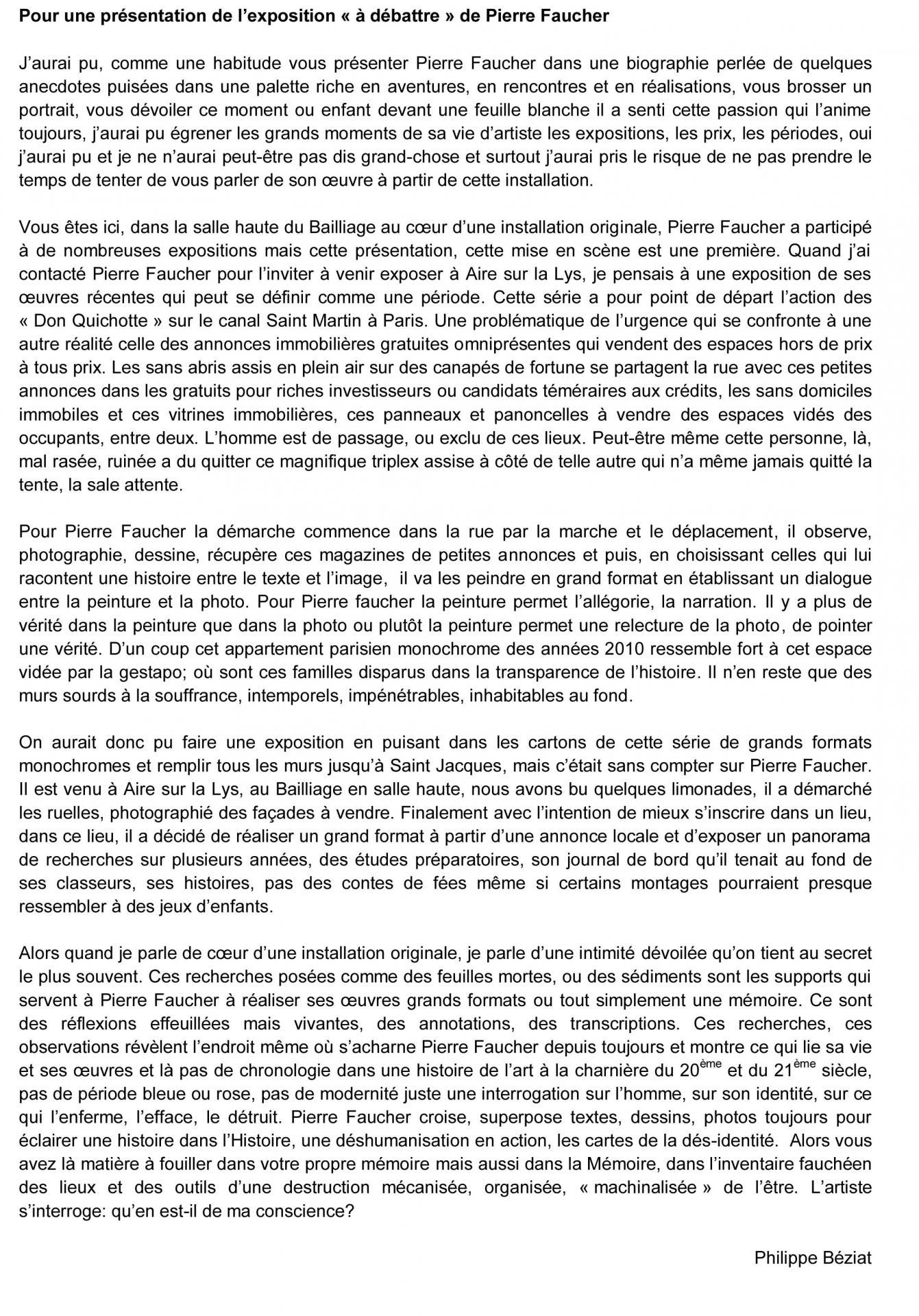 Présentation Pierre Faucher